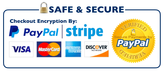 Safe and Secure Checkout by PayPal and Stripe